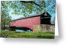 Berks Courty Pa - Griesemer's Covered Bridge Greeting Card