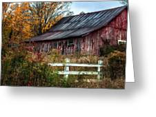 Berkshire Autumn - Old Barn Series   Greeting Card