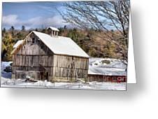 Berkshire Barn In Winter Greeting Card