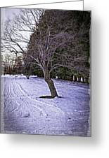 Berkshires Winter 2 - Massachusetts Greeting Card