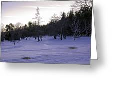 Berkshires Winter 5 - Massachusetts Greeting Card