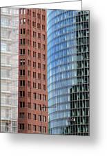 Berlin Buildings Detail Greeting Card by Matthias Hauser