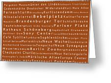 Berlin In Words Toffee Greeting Card