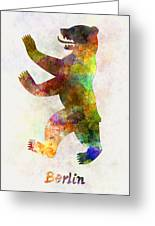 Berlin Symbol In Watercolor Greeting Card