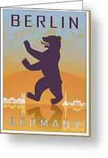 Berlin Vintage Poster Greeting Card