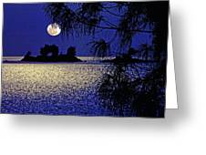 Bermuda Moon Greeting Card