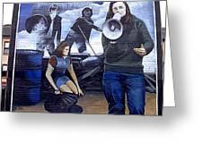 Bernadette Devlin Mural Greeting Card