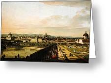 Bernardo Bellotto Wien Vom Belvedere Aus Gesehen 1758 1761 Greeting Card