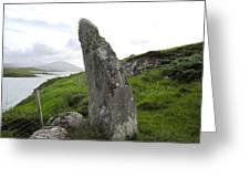 Bernera Stone Near Water Greeting Card