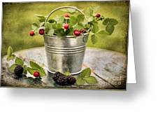 Berries Greeting Card by Darren Fisher