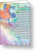 Berry Fairy Friends Poem Greeting Card