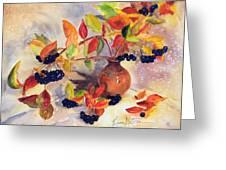 Berry Harvest Still Life Greeting Card