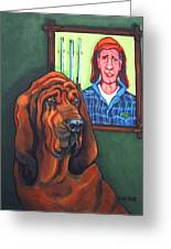 Bloodhound - Bervil And Blue Greeting Card