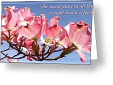 Beside A Friend Greeting Card