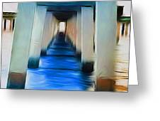 Beside The Cool Blue Waters Greeting Card by Jimi Bush