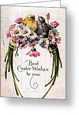 Best Easter Wishes To You 1909 Vintage Postcard Greeting Card