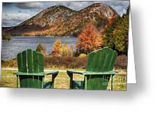 Best Seats In Acadia Greeting Card by George Oze