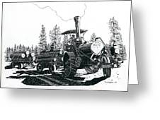 Best Steam Traction Engine Greeting Card