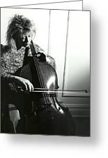 Beth And Oiled Cello Greeting Card