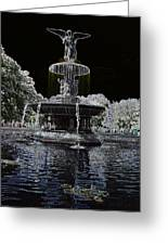 Bethesda Fountain Abstract Greeting Card