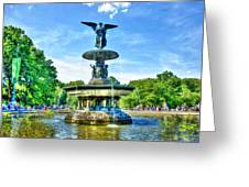 Bethesda Fountain At Central Park Greeting Card