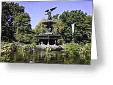 Bethesda Fountain Iv - Central Park Greeting Card