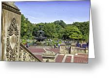 Bethesda Fountain V - Central Park Greeting Card