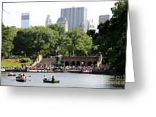 Bethesda Terrace And Fountian Nyc Greeting Card