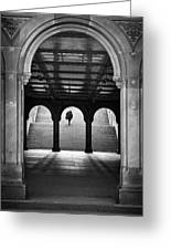 Bethesda Underpass At Central Park In New York City Greeting Card by Ilker Goksen