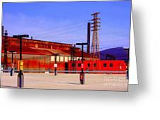Bethlehem Steel Buildings Greeting Card