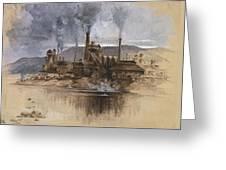 Bethlehem Steel Corporation Circa 1881 Greeting Card