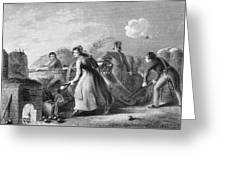 Betsy Doyle A Soldiers Wife Helping Greeting Card