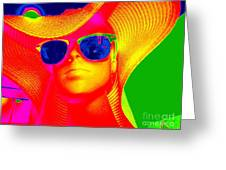 Betsy In Blue Sunglasses Greeting Card