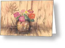 Betsy's Flowers 2 Greeting Card