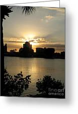 Between Day And Night Greeting Card