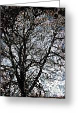 Between Heaven And Earth Expressionism Art Greeting Card