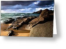 Between Rocks And Water Greeting Card