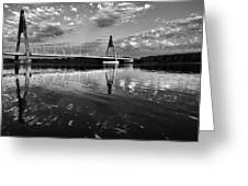 Between Sky River And Two Coasts Greeting Card