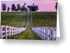 Between The Fences Greeting Card