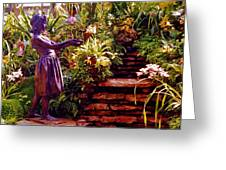 Between The Steps Greeting Card