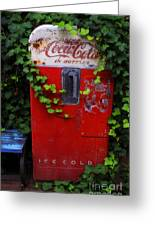 Austin Texas - Coca Cola Vending Machine - Luther Fine Art Greeting Card