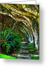 Beverly Hills Jungle Greeting Card by Cary Shapiro