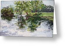 Bevier Park In The Rain Greeting Card