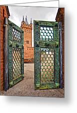 Beyond The Courtyard Gate Greeting Card