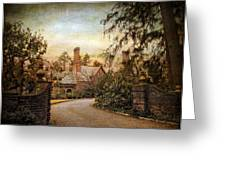Beyond The Gates Greeting Card by Jessica Jenney