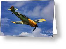 Bf 109 Messerschmitt  Greeting Card