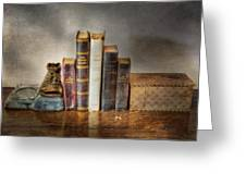 Bibles And Hymnbooks Greeting Card by David and Carol Kelly