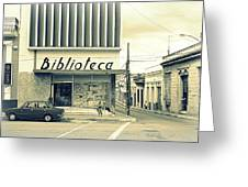 Biblioteca Cubana Greeting Card