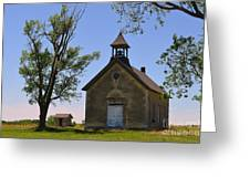 Bichet School In Marion County In Kansas Greeting Card