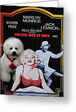 Bichon Frise Art- Some Like It Hot Movie Poster Greeting Card